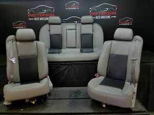 2004 Cadillac Cts Front Rear Power Seat Dark Pewter Light Gray 132