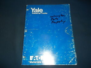 Yale Gdc Gdp Series 6000 To 8000lb Forklift Lift Truck Parts Manual Book Catalog