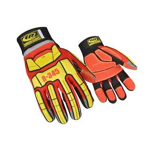 Ringers Gloves 345 Rescue Gloves Firefighter Extrication Gloves Medium Red