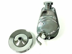 Bbc Sbc Chevy Chrome Saginaw Style Power Steering Pump W Double Groove Pulley