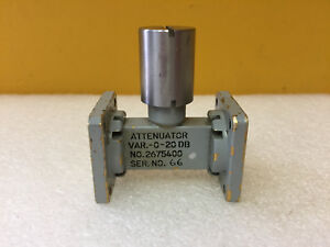 Generic Wr62 12 4 To 18 Ghz 0 To 20 Db Waveguide Variable Level Set Attenuator