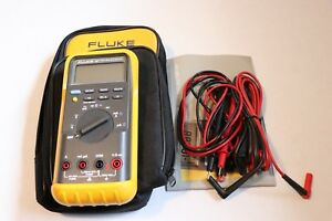Fluke 87 True Rms Digital Multimeter With 2 Sets Of Leads Hardly Used