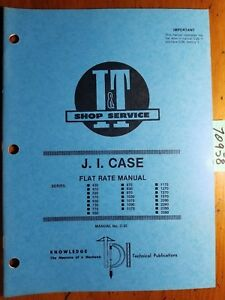 I t Case 430 2590 Tractor Flat Rate Manual C 35 1984