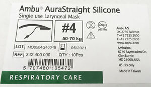 Ambu Aurastraight Silicone 342 400 000 Single Use Laryngeal Mask sterile Case10