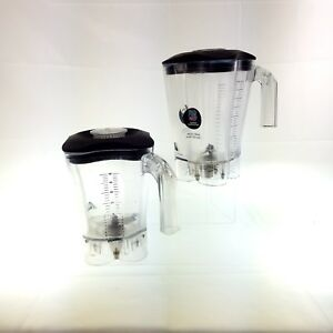 Hamilton Beach Commercial Blender Container Lot Of 2 Female Socket Please Read