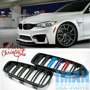 3 color Black Grill Front Kidney Grille For Bmw F32 428i 435i M3 M4 Coupe 13 18