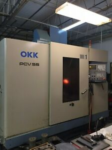 Okk Model Pcv 55 Vertical Machining Center With Mitsubishi 520me Control 1995