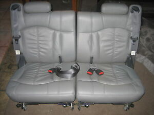 2000 2006 Tahoe Yukon Suburban Gray Leather Third 3rd Row Seats