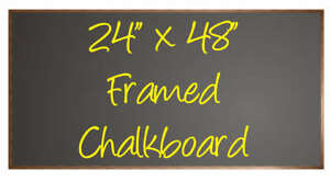 Cbb 2448f Black Menu Chalkboard Sign 24x48 Framed New