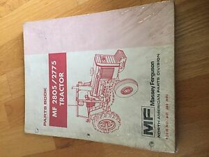 Massey Ferguson Tractor Parts Book Catalog Manual Mf 2805 2775