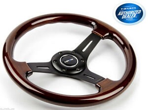 Nrg Steering Wheel Classic Wood Grain 3 Spoke Black 330mm St 015 1bk