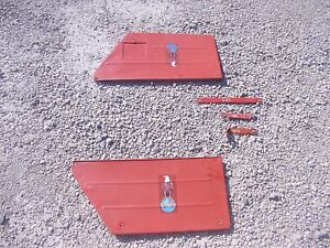 Case Vac Tractor Side Cover Hood Panels Panel Looks Good Repainted W Door