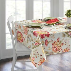 70 in Home Indoor Outdoor Garden Table Accent Accessories Oblong Tablecloth