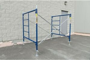 Metaltech Scaffolding Set 5 Ft X 5 Ft X 7 Ft Cross Braces Interlocking Frame
