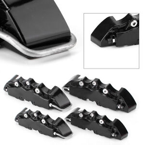 4x Car Truck 3d Front Rear Disc Brake Caliper Covers Set Black W Logo