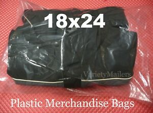 10 Large 18x24 Clear Flat Plastic Clothing Merchandise Bags 1 5 Mil Quality