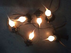 Set Of Primitive Lights W Silicone Bulbs Super Neat 6 Lights New