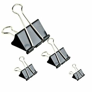 Binder Clips Paper Clamp For Paper clips Bnder Assorted Sizes Black 50 Pcs Other