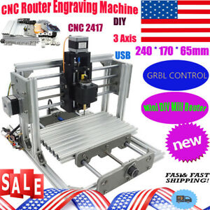 Diy Cnc 2417 Milling Router 3 Axis Usb Desktop Wood Carving Pcb Milling Machine