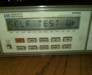 Hewlett Packard 3488a switch control Unit With A Hp44472a Vhf Switch Module