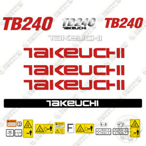 Takeuchi Tb 240 Mini Excavator Decals Equipment Decals Tb240 Tb 240