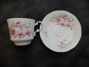 Queens Fine Bone China Teacup Saucer Made In England Rosina China Co Tea Cup