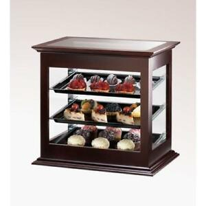 Cal mil 284 52 3 tier Wood Display Case Pastry Bakery Muffin