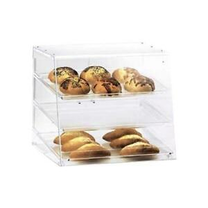 Cal mil 1011 3 Tray Countertop Display Case Bakery Donut Pastry