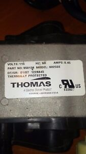 Thomas 6025se Dry Running Linear Diaphragm Compressor Vacuum Pump