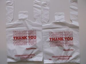 1000 Ct plastic Shopping Bags t Shirt Type Grocery white Small Size Bags