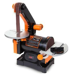 WEN 6515 1 x 30 Belt Sander With 5 Sanding Disc Grinder Electric Wood Tool New