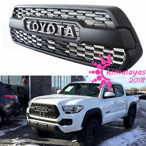 Front Bumper Hood Grille Grill Black For Toyota Tacoma Trd Pro 2016 2017 2018