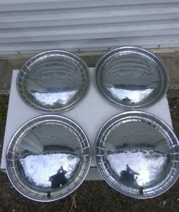 Vintage Set Of 4 1951 Buick Roadmaster 15 Hubcaps