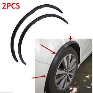 2 Pcs Car Auto Fender Wheel Eyebrow Protector Strips Rubber For Ford Focus Parts