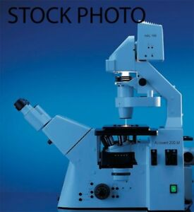 Zeiss Axiovert 200m Inverted Research Microscope Fluorescent Dic