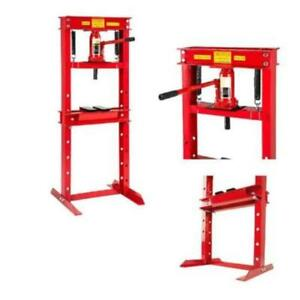 New Heavy Duty Bottlejack 12 Ton Workshop Press Garage Shop Floor Standing Press
