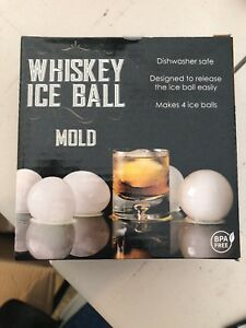 whiskey ice ball mold