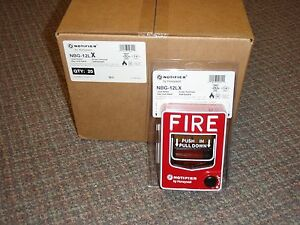 Case Of 20 Notifier Nbg 12lx Addressable Manual Pull Station Box brand New
