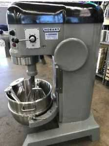 Refurbished Hobart H 600t 60 Qt Mixer W Flat Beater Hook Whip
