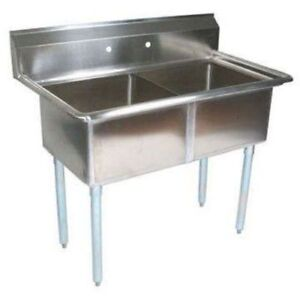 Stortec 2 Compartment Sink Restaurant Commercial Ss s1820 92216 n