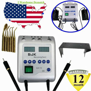 Electric Waxer Carving Pen Pencil Knife Machine Wax 6 Tips Pot Dental Lab Usa