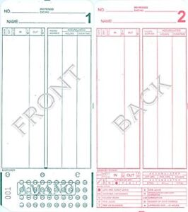 Amano Mjr 7000 Mjr 8000 Time Clock Cards Number Series 000 099 2000 Time Per