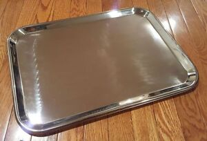 Large Instrument Tray Stainless Steel Tattoo piercing Medical Dental 19 X 14