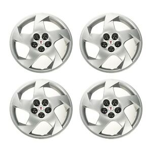 Oem New 16 5 Spoke Wheel Hub Cap Set Of 4 W Pontiac Logo 03 10 Vibe 22676859