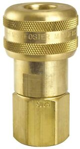 5 Foster 5 Series Brass Quick Coupler 1 2 X 3 4 Npt Air Hose Water Fittings