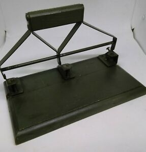 Vintage Heavy Duty 3 Hole Paper Punch Wooden Base