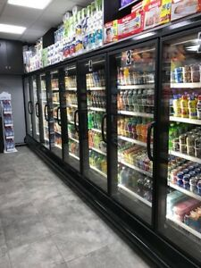 14 Glass Door Cooler Freezer Case Run Hussmann Remanufactured