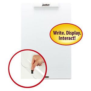 Justick Frameless Electro surface Dry erase Board W clear Overlay 16 X 24 We