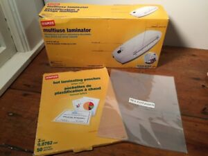 Euc Staples Multiuse Laminator Machine 17466 Hot Or Cold W 50 Pouches