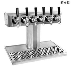 Glastender Bt 6 ssr ld 6 faucet Stainless Glycol Tee Tower